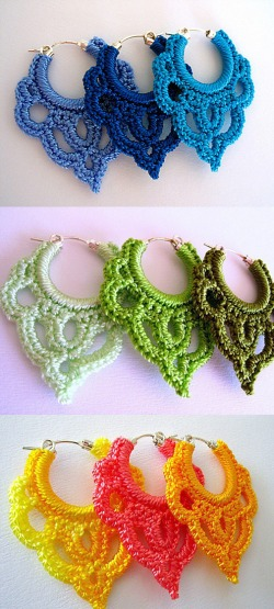 Crochet earrings by camille marie closed - Bijoux au crochet modele gratuit ...